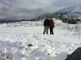 Us in snow at Hanmer Springs